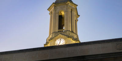 Old Main Bell Tower Close-up
