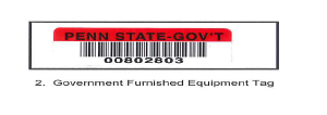 Government Furnished Equipment Tag