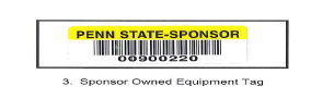 Sponsor Owned Equipment Tag
