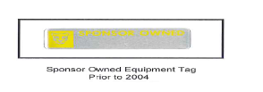 Sponsor Owned Equipment Tag Prior to 2004