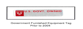 Government Furnished Equipment Tag Prior to 2004